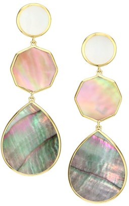 Ippolita Polished Rock Candy 18K Yellow Gold, Mother-Of-Pearl & Shell Crazy 8's Earrings