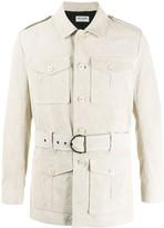 Saint Laurent suede belted Norfolk jacket