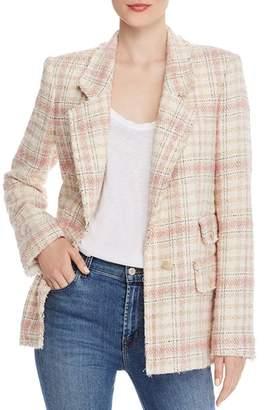 Rebecca Taylor Plaid Tweed Blazer