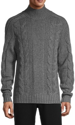Vince Cable-Knit Wool Cashmere Sweater