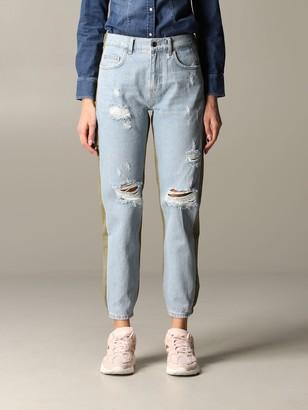 Liu Jo Bi-material Jeans With Breaks