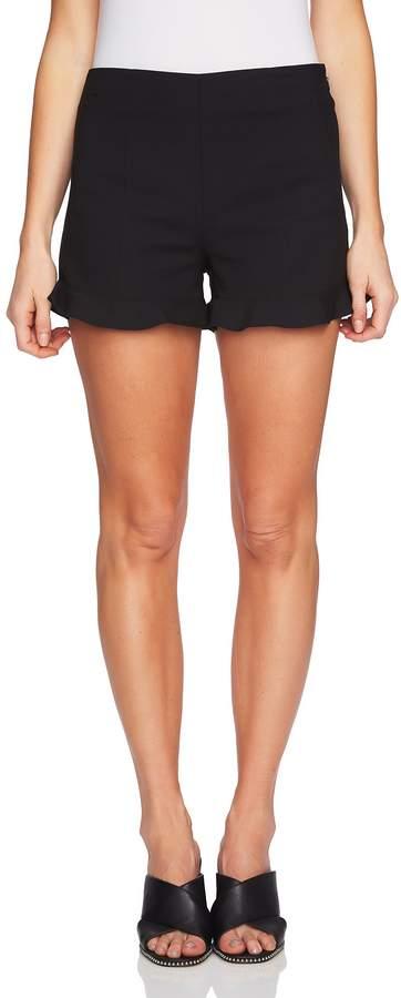 1.STATE Ruffle Hem Flat Front Shorts