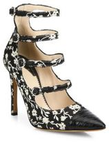 Altuzarra Isabella Silk Floral Mary Jane Pumps