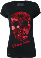 Philipp Plein sequin skull T-shirt