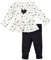 Petit Lem Baby Girls Two-Piece Peplum Tunic and Leggings Set
