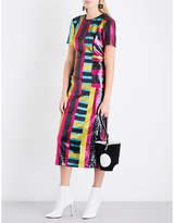 Diane von Furstenberg Striped sequinned midi dress