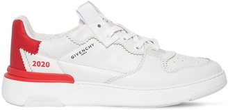 Givenchy Wing Leather Sneakers W/ Zig-Zag
