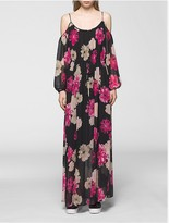 Calvin Klein Floral Off-Shoulder Maxi Dress