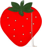 Charlotte Olympia strawberry clutch - women - Silk/Swarovski Crystal - One Size