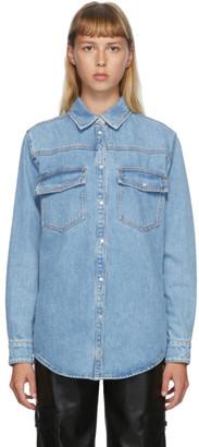MSGM Blue Denim Shirt Jacket