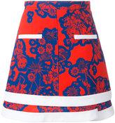 Carven floral print skirt - women - Polyester/Acetate/Silk - 38