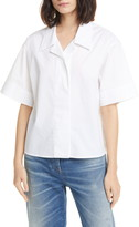 MM6 MAISON MARGIELA Crop Cotton Poplin Shirt