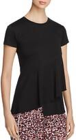 DKNY Short Sleeve Ruffle Top