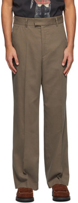 Our Legacy Khaki High-Top Chino Trousers