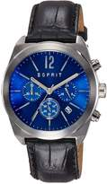 Esprit ES107571002 - Men's Watch, Leather, Black Tone