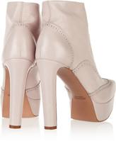 Jil Sander Brogue-detailed leather platform boots