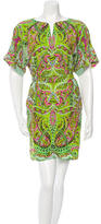 Yoana Baraschi Paisley Print Cutout Dress