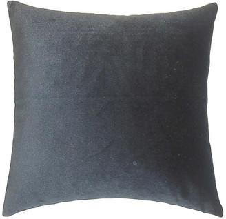 One Kings Lane Andorra Pillow - Charcoal Velvet - 18x18