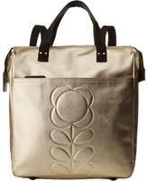 Orla Kiely Embossed Flower Stem Leather Backpack Backpack Bags