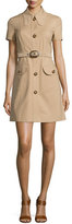 Michael Kors Short-Sleeve Button-Front Shirtdress, Dune