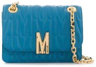 Moschino M quilted shoulder bag