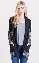 RVCA Junior's All Or Nothing Cardigan Chunky Sweater