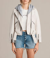 AllSaints Hooded Balfern Biker Jacket