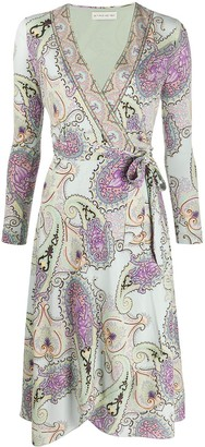 Etro Paisley Print Wrap Dress