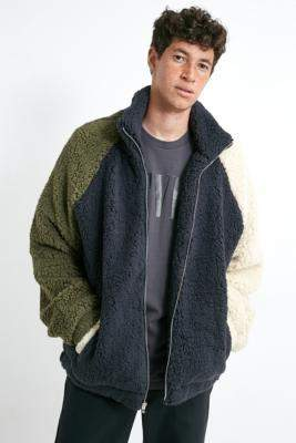 Urban Outfitters Colourblock Cosy Sherpa Ski Jacket - assorted S at