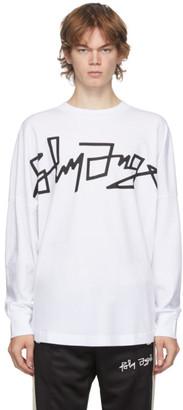 Palm Angels White Desert Logo Oversized Long Sleeve T-Shirt