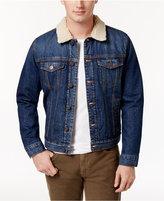 Tommy Hilfiger Men's Rider Denim Jacket with Fleece Collar