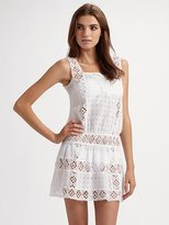 Onda De Mar Swim Eyelet And Crochet Coverup