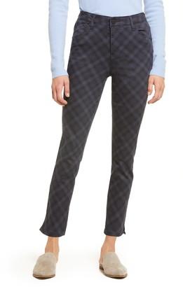 Wit & Wisdom Ab-Solution Plaid High Waist Ankle Skinny Pants