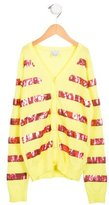 Little Marc Jacobs Girls' Embellished Knit Cardigan w/ Tags