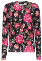 Dolce & Gabbana Floral-printed cashmere cardigan