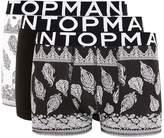 Topman Black And White Bandana Paisley Trunks 3 Pack*