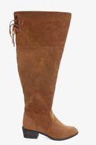 Fashion to Figure Duke Faux Suede Tassel Knee High Boots (Wide Width)