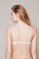 Free People Floral Sweetheart Triangle Bra