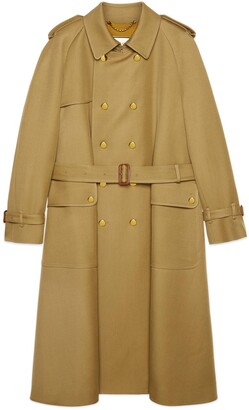 Gucci Wool trench coat with Boutique