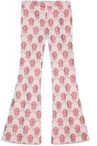 Gucci Floral jacquard flare pant