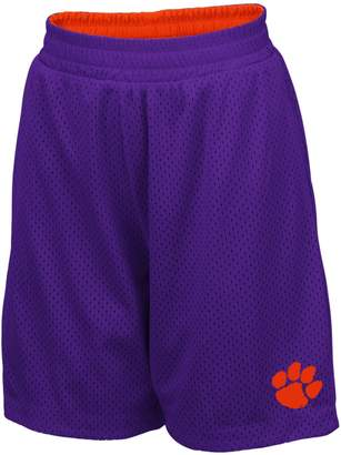 Colosseum Youth Purple Clemson Tigers Field Trip Reversible Shorts
