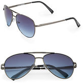 Steve Madden 57mm Aviator Sunglasses
