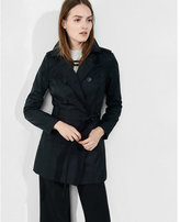 Express Petite Classic Trench Coat With Trapunto Stitch Sash