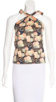 Marc Jacobs Floral Print Sleeveless Top