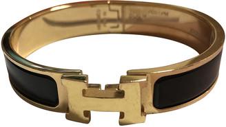 Hermes Clic H Black Yellow gold Bracelets