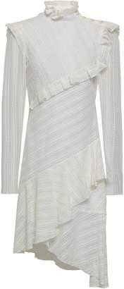 Philosophy di Lorenzo Serafini Asymmetric Ruffled Cotton-blend Lace Dress