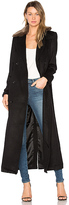 Capulet Vinnie Duster Overcoat with Faux Fur Trim in Black. - size XS (also in )
