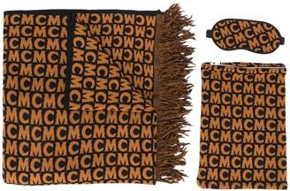MCM Logo Fringe Scarf Set