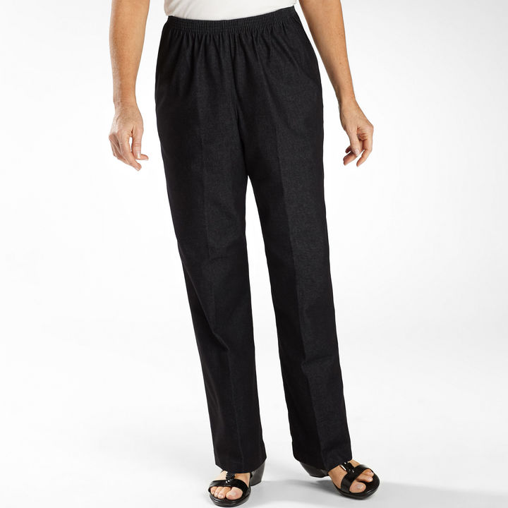 Alfred Dunner Black Denim Jeans