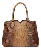 Light Brown Croc-Embossed Maya Leather Satchel